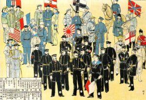 Les huit nations impérialistes qui se partagent la Chine.