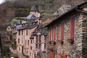 Conques, un village au charme indéniable.