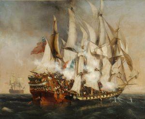 La prise du Kent est un exploit de Surcouf auquel a participé Louis Garneray.